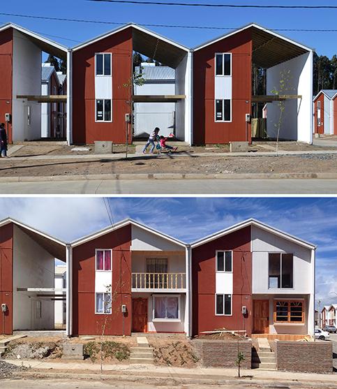 Case costruite da A. Aravena