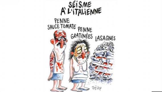 La vignetta di Charlie: satira indigesta agli Italiani
